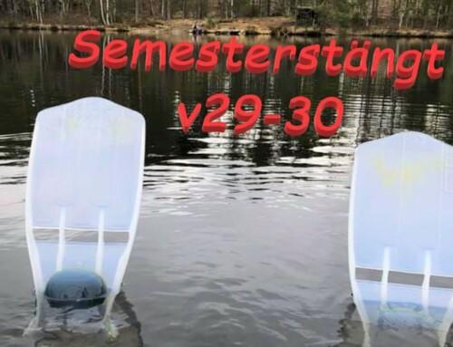 Semesterstängt v.29-30